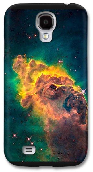 Digital Galaxy S4 Cases - Space image Carina Nebula pillar Galaxy S4 Case by Matthias Hauser