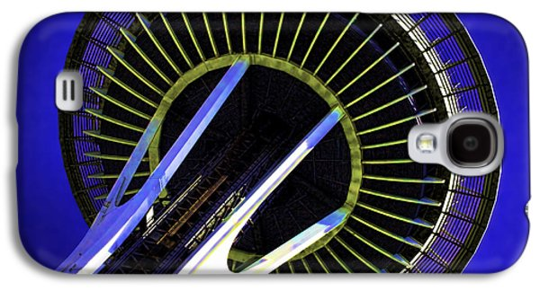Landmarks Photographs Galaxy S4 Cases - Space Needle Abstraction Galaxy S4 Case by Gary Holmes
