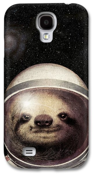 Sloth Drawings Galaxy S4 Cases - Space Sloth Galaxy S4 Case by Eric Fan