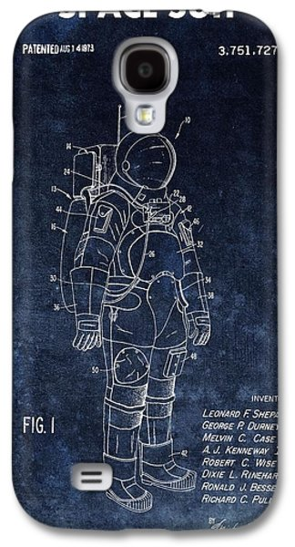 Space Suit Patent Illustration Galaxy S4 Case by Dan Sproul
