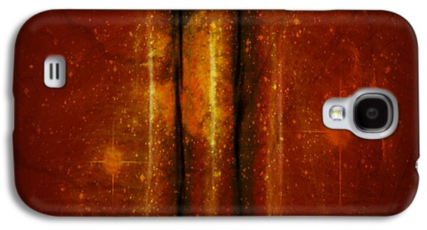 Abstract Digital Mixed Media Galaxy S4 Cases - Spaces In Between Galaxy S4 Case by Aurora Art