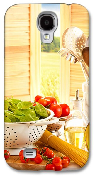 Spaghetti And Tomatoes In Country Kitchen Galaxy S4 Case by Amanda Elwell