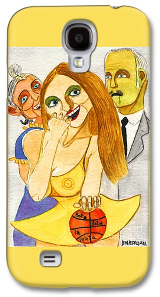 Basket Ball Paintings Galaxy S4 Cases - Spanish Girl With Her Grandparents Galaxy S4 Case by Don Pedro De Gracia