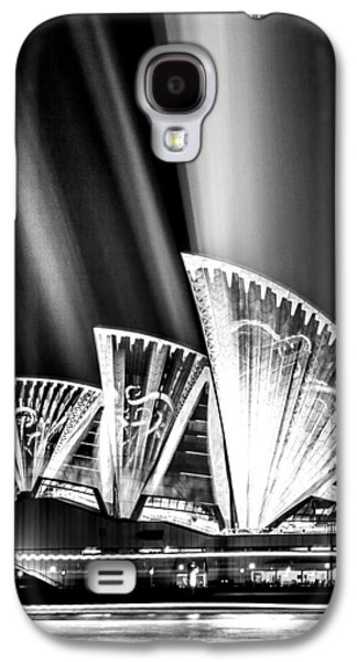 Jewels Galaxy S4 Cases - Sparkling Blades BW Galaxy S4 Case by Az Jackson
