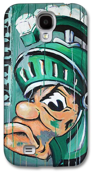 Basketball Abstract Galaxy S4 Cases - Spartans Galaxy S4 Case by Julia Pappas