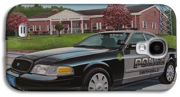 Police Cruiser Paintings Galaxy S4 Cases - Spd2015 Galaxy S4 Case by Robert VanNieuwenhuyze
