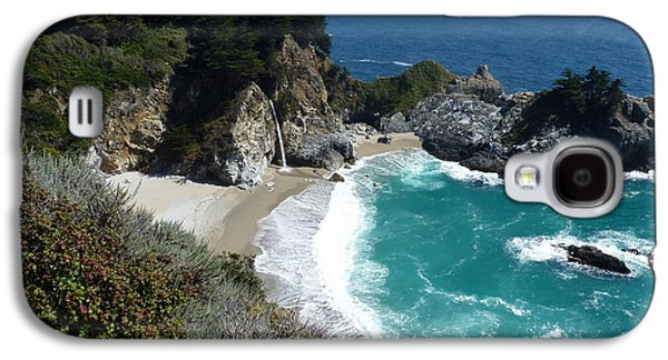 State Beach Near Big Sur Galaxy S4 Cases - Spectacular McWay Falls in Julia Pfeiffer Burns State Park Galaxy S4 Case by Carla Parris