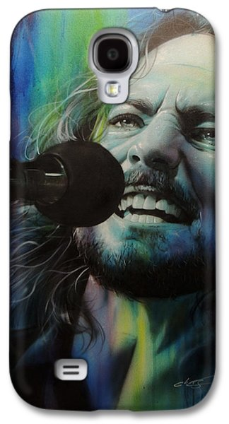 Eddie Vedder - ' Spectrum Of Vedder ' Galaxy S4 Case by Christian Chapman Art