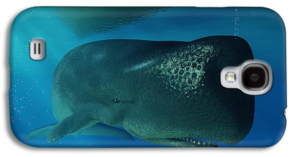 Whale Digital Art Galaxy S4 Cases - Sperm Whale Galaxy S4 Case by Daniel Eskridge