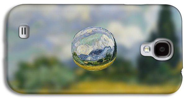 Abstracts Galaxy S4 Cases - Sphere 7 van Gogh Galaxy S4 Case by David Bridburg