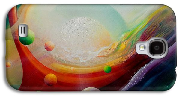 Macrocosm Paintings Galaxy S4 Cases - Sphere Q2 Galaxy S4 Case by Drazen Pavlovic