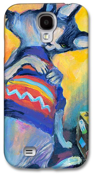 Texas Drawings Galaxy S4 Cases - Sphynx Cats Friends Galaxy S4 Case by Svetlana Novikova