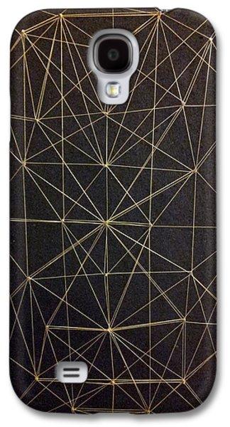Geometric Art Reliefs Galaxy S4 Cases - Spider web Galaxy S4 Case by William Douglas