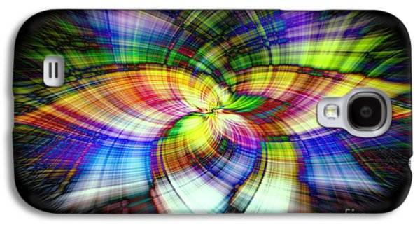 Abstract Digital Photographs Galaxy S4 Cases - Spin Galaxy S4 Case by Linda James