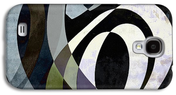 Digital Design Galaxy S4 Cases - Spiraling Out of Control Abstract Square  Galaxy S4 Case by Edward Fielding