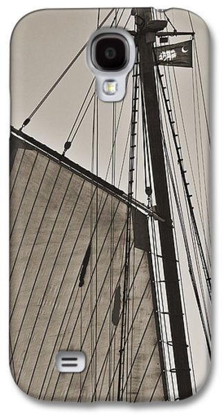 Historic Schooner Galaxy S4 Cases - Spirit of South Carolina Schooner Sailboat Sail Galaxy S4 Case by Dustin K Ryan