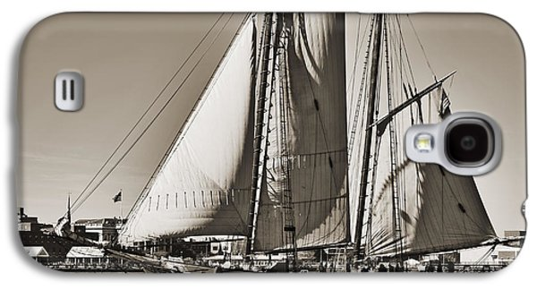 Historic Schooner Galaxy S4 Cases - Spirit of South Carolina Schooner Sailboat Sepia Toned Galaxy S4 Case by Dustin K Ryan