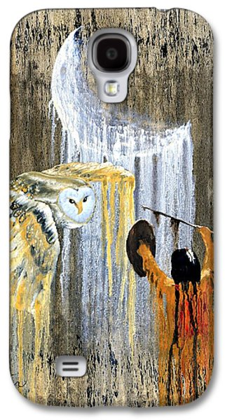 Drips Paintings Galaxy S4 Cases - Spirit of the Night Galaxy S4 Case by Patrick Trotter