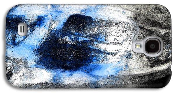 Abstract Digital Art Glass Art Galaxy S4 Cases - Spirit Galaxy S4 Case by Uleria Caramel