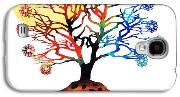 Mystic Art Galaxy S4 Cases - Spiritual Art - Tree Of Life Galaxy S4 Case by Sharon Cummings