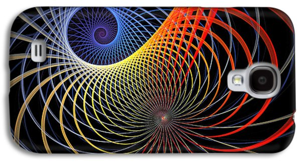 Blue Abstracts Galaxy S4 Cases - Spirograph Galaxy S4 Case by Amanda Moore