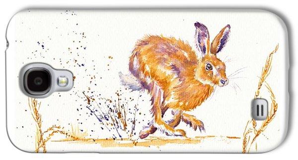 March Hare Galaxy S4 Cases - Splash Galaxy S4 Case by Debra Hall