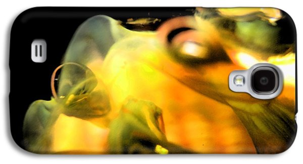 Abstract Digital Art Glass Art Galaxy S4 Cases - Splash Galaxy S4 Case by Uleria Caramel