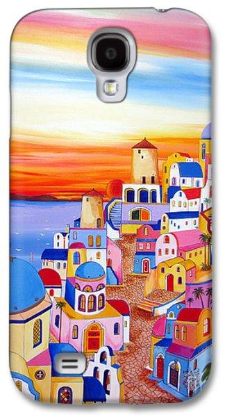 Splendid Santorini Sunset My Way Galaxy S4 Case by Roberto Gagliardi