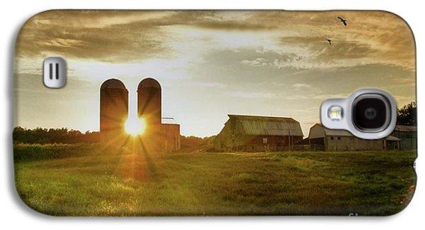 Silos Galaxy S4 Cases - Split Silo Sunset Galaxy S4 Case by Benanne Stiens