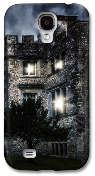 Ghostly Galaxy S4 Cases - Spooky Castle Galaxy S4 Case by Joana Kruse