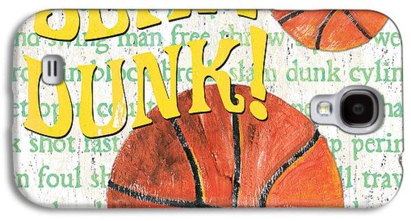 Sports Fan Basketball Galaxy S4 Case by Debbie DeWitt