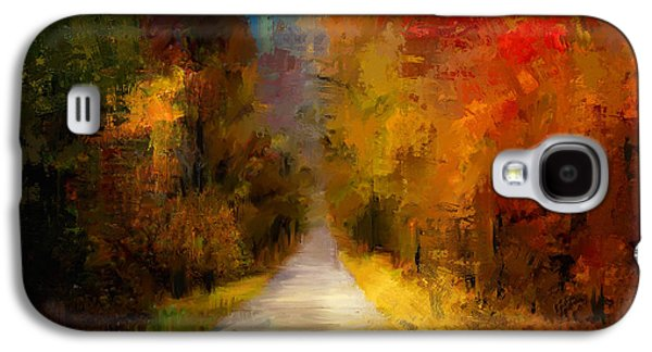Abstract Nature Galaxy S4 Cases - Spotlight On Autumn Galaxy S4 Case by Jai Johnson