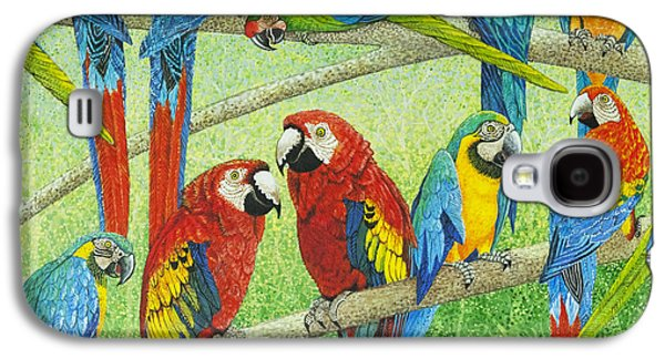 Group Of Birds Paintings Galaxy S4 Cases - Spreading the news Galaxy S4 Case by Pat Scott