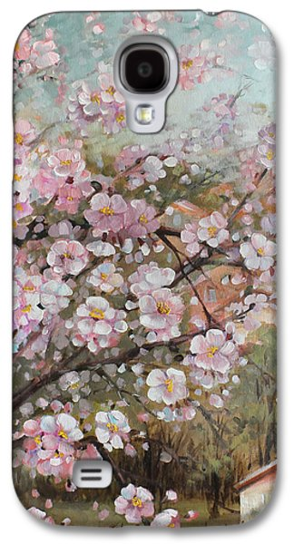 Modern Abstract Galaxy S4 Cases - Spring at country side Galaxy S4 Case by Vali Irina Ciobanu