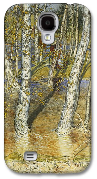 River Flooding Galaxy S4 Cases - Spring Flood Galaxy S4 Case by Carl Larsson