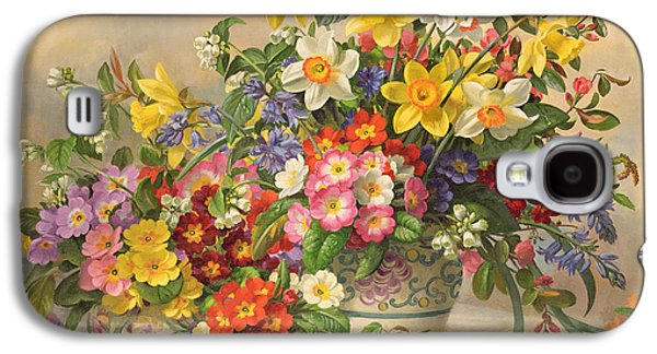 Spring Flowers And Poole Pottery Galaxy S4 Case by Albert Williams