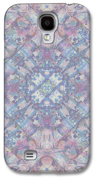 Abstract Digital Paintings Galaxy S4 Cases - Spring Geo Galaxy S4 Case by Beth Travers
