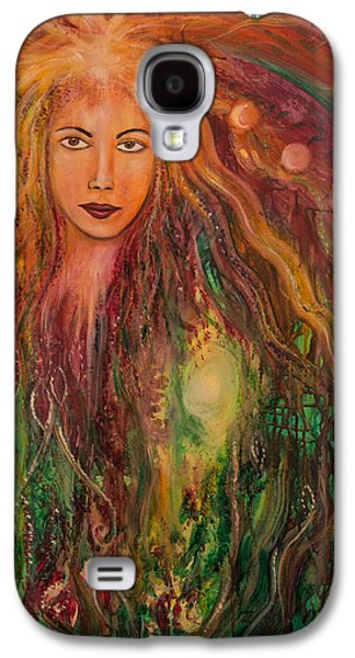 Archetype Paintings Galaxy S4 Cases - Spring Goddess Galaxy S4 Case by Solveig Katrin