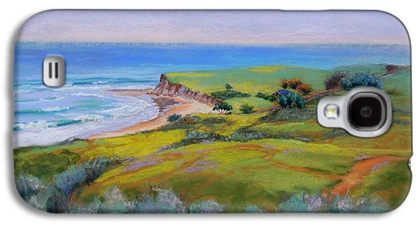 Beach Landscape Pastels Galaxy S4 Cases - Spring Greens at Bulito Galaxy S4 Case by Lynee Sapere