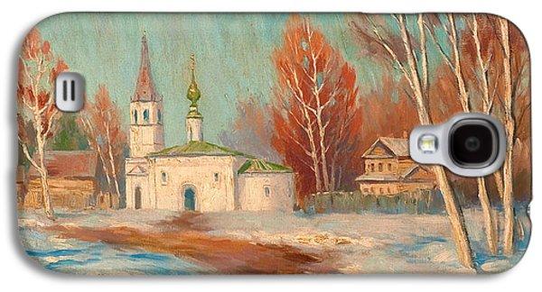 Orthodox Paintings Galaxy S4 Cases - Spring Landscape Galaxy S4 Case by Sergei Arsenevich Vinogradov