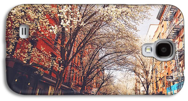 Cherry Blossoms Galaxy S4 Cases - Spring - New York City - Lower East Side Galaxy S4 Case by Vivienne Gucwa