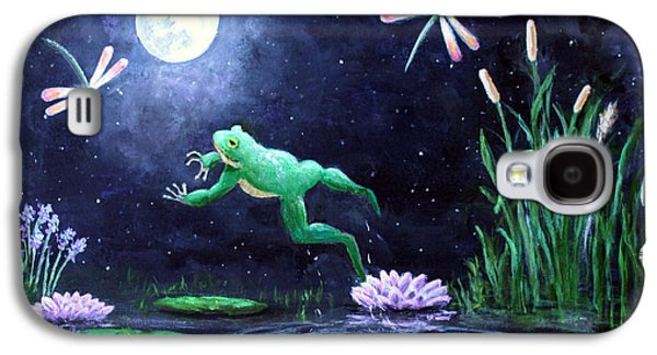Flying Frog Galaxy S4 Cases - Spring on the Pond Galaxy S4 Case by Amy Scholten