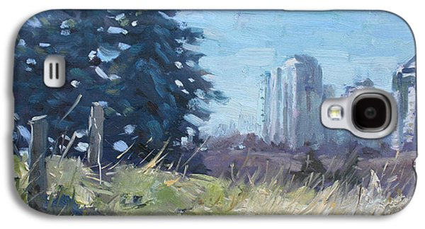 Fence Paintings Galaxy S4 Cases - Spring over the Hills Galaxy S4 Case by Ylli Haruni