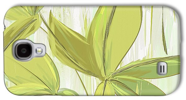 Spring Shades - Muted Green Art Galaxy S4 Case by Lourry Legarde