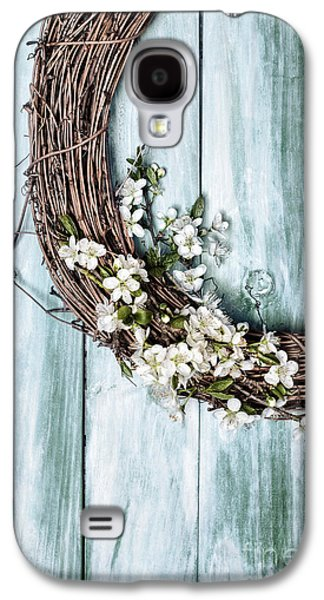 Wooden Door Galaxy S4 Cases - Springtime Garland Galaxy S4 Case by Amanda And Christopher Elwell