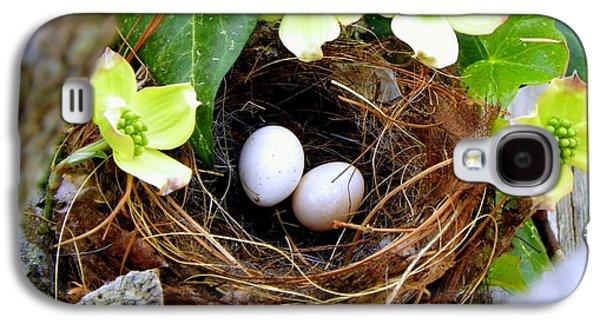 Baby Bird Photographs Galaxy S4 Cases - Springtime Galaxy S4 Case by Karen Wiles