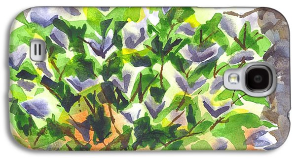 Nature Abstracts Galaxy S4 Cases - Springtime Lilac Abstraction Galaxy S4 Case by Kip DeVore