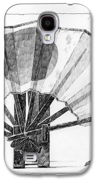 Interior Still Life Drawings Galaxy S4 Cases - Spirit of Japan. Fan and Matchbox Galaxy S4 Case by Igor Sakurov