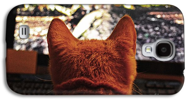 Squirrely Cat  Galaxy S4 Case by JW Hanley