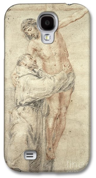 Embracing Galaxy S4 Cases - St Francis Rejecting the World and Embracing Christ Galaxy S4 Case by Bartolome Esteban Murillo